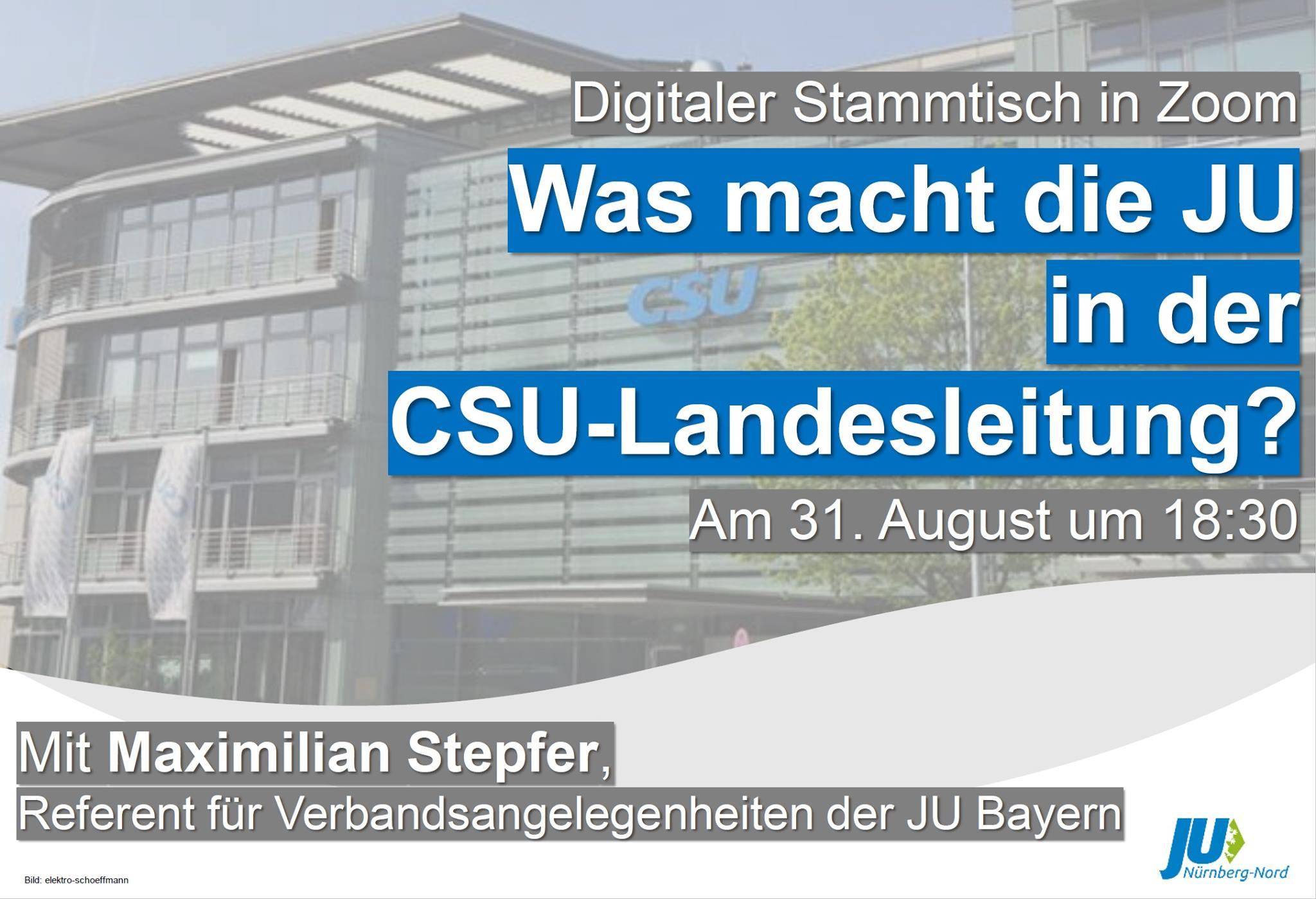 Bild zur Veranstaltung Talk with JU: Was macht die JU in der CSU-Landesleitung?